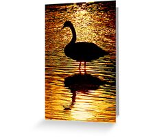 Silhouette In Gold Greeting Card