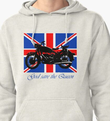 God save the Queen Pullover Hoodie