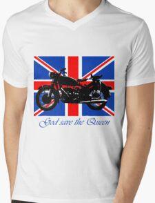 God save the Queen Mens V-Neck T-Shirt