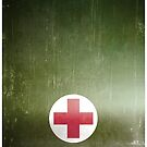 Vintage WWII Army Green Red Cross by txjeepguy2