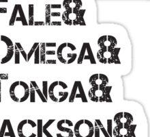 Bullet Club List - Black Sticker