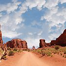 A road into Monument Valley by Kent Burton