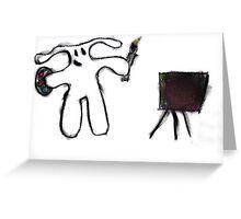 bunny artist Greeting Card