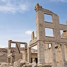 Rhyolite, a ghost town in Nevada - The old bank by Kent Burton
