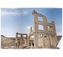 Rhyolite, a ghost town in Nevada - The old bank Poster