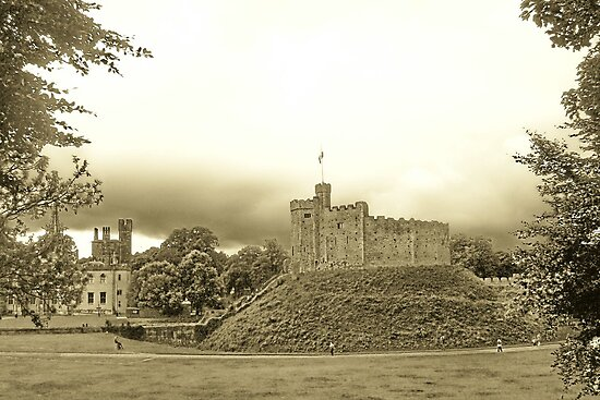 Cardiff - Wale's Capital - Cardiff Castle's Keep -  by KesiaHosking