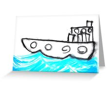 ship on the ocean Greeting Card
