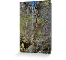 Hemmed n Hollow waterfall Buffalo River, Arkansas Greeting Card