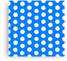 Classic blue and white polka dots Canvas Print