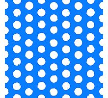 Classic blue and white polka dots Photographic Print