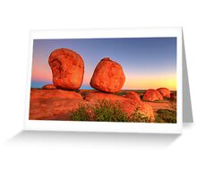 The Devils Marbles Greeting Card