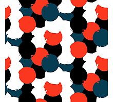 Bold geometric pattern with randomly colored circles Photographic Print
