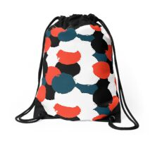 Bold geometric pattern with randomly colored circles Drawstring Bag