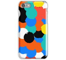 Print with big circles in bight multiple colors iPhone Case/Skin