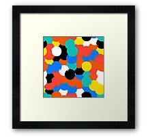 Print with big circles in bight multiple colors Framed Print