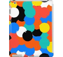Print with big circles in bight multiple colors iPad Case/Skin