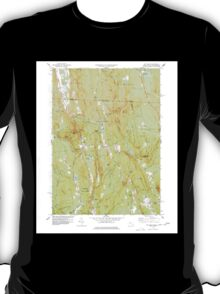 Massachusetts  USGS Historical Topo Map MA Mt Grace 350318 1977 24000 T-Shirt