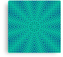 Green and Blue Waves Canvas Print