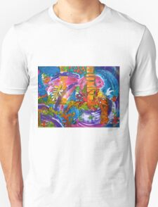The Crowded Aquarium by Heather Holland  T-Shirt