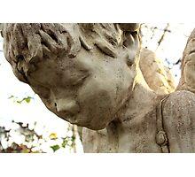 Angel frozen in stone. Photographic Print