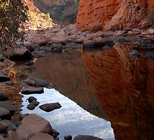 The golden walls of Ormiston Gorge by Richard  Stanley