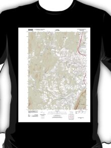 Massachusetts  USGS Historical Topo Map MA Easthampton 20120606 TM T-Shirt