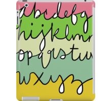 Alphabet (With Color) iPad Case/Skin