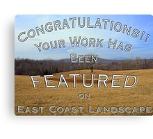 East Coast Landscape Challenge features Canvas Print