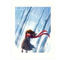 Winter Dragon Art Print