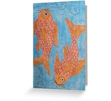 Koi.....Sketch Book Project Greeting Card
