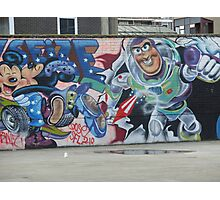 Street Wall fly by Photographic Print