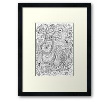 Chaotic Cannibalism Framed Print