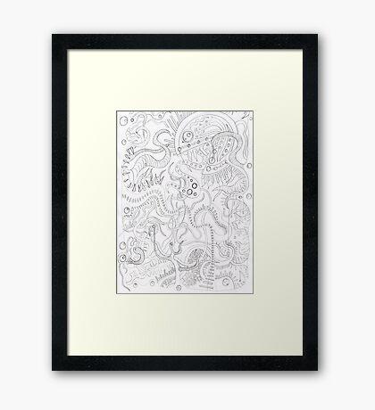 Pacman on Acid Framed Print