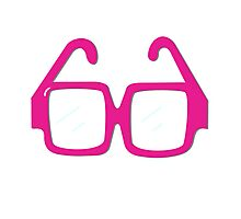Pink Glasses Photographic Print