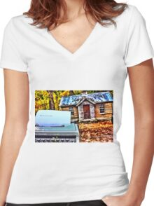 Vintage Arrowtown  Women's Fitted V-Neck T-Shirt