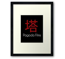 Pagoda Films Logo Framed Print