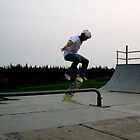 Skateboarding - Caught in Mid-Air by Alexis  Reber