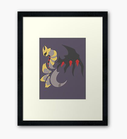 Mirror's Shadow - Giratina Altered Form Framed Print