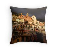 vernazza - hillside Throw Pillow