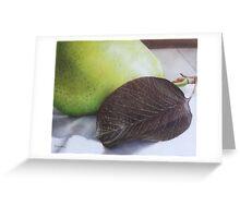 Luscious Pear Greeting Card