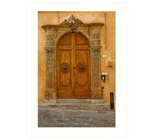 Lucca Doorway Art Print