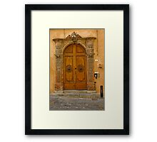 Lucca Doorway Framed Print