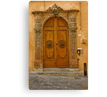 Lucca Doorway Canvas Print