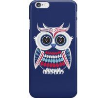 Patriotic Owl - Blue iPhone Case/Skin