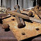 Rail Yard Rust by Patty (Boyte) Van Hoff