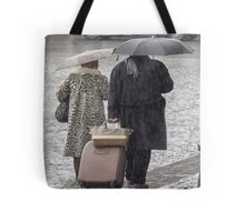 """I thought the forecast said light drizzle!"" Tote Bag"