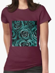 Rose Bouquet in Turquoise T-Shirt