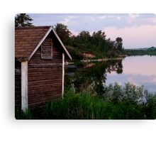 Shack by the Lake Canvas Print