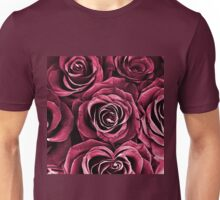 Rose Bouquet in Red Unisex T-Shirt