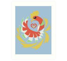 Heart Gold - Ho-Oh Art Print